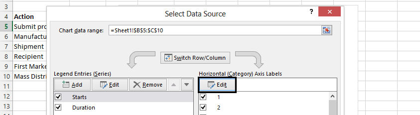 select data source edit