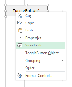 Best Excel Tutorial - Toggle button