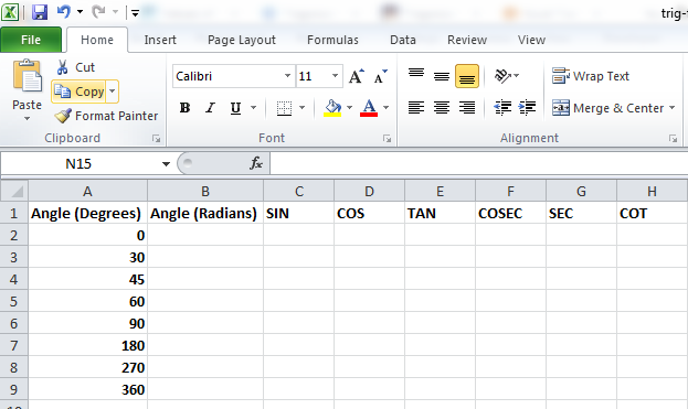 Best Excel Tutorial - How to Use Trig Functions in Excel?