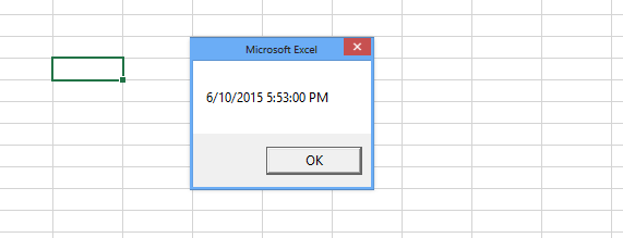 Excel time dialog box
