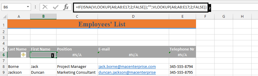 Best Excel Tutorial How To Remove N A Errors In Vlookup Formula