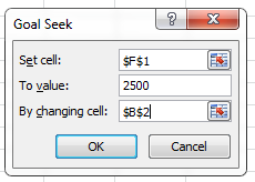 What IF Analysis Goal Seek Set Cell