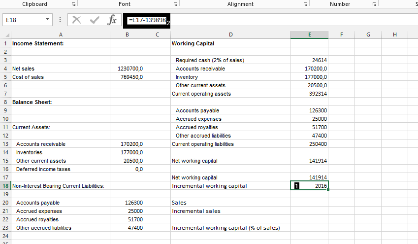 best excel tutorial how to calculate working capital