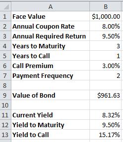 bond maturity value