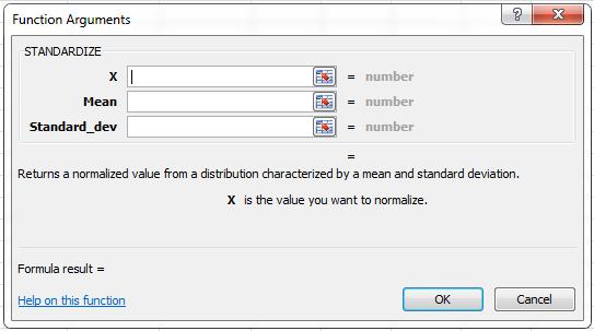 standard deviation excel