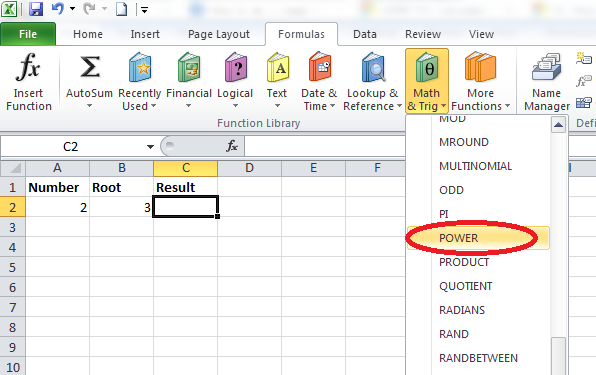 Best Excel Tutorial How To Calculate The Nth Root Of A Number